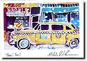Another Creation by Michele Pulver Holiday Greeting Cards - Taxi! Taxi!