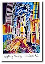 Another Creation by Michele Pulver Holiday Greeting Cards - Lights of Times Square