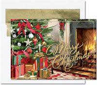 Birchcraft Studios Holiday Greeting Cards - Festive Fireside