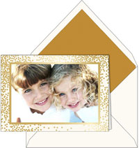 Boxed Holiday Photo Mount Cards by Vera Wang (Gold Confetti)