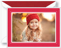 Boxed Holiday Photo Mount Cards by Crane (Engraved Scarlet Glimmer)