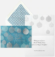 Holiday Greeting Cards by Carlson Craft - Geometric Ornaments