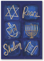 Hanukkah Greeting Cards by Carlson Craft - Peaceful Elements