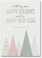 Holiday Greeting Cards by Carlson Craft - Happy Trees