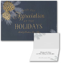 Holiday Greeting Cards by Carlson Craft - Pinecone Appreciation