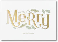 Holiday Greeting Cards by Carlson Craft - So Very Merry