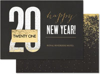 Holiday Greeting Cards by Carlson Craft - Modern New Year