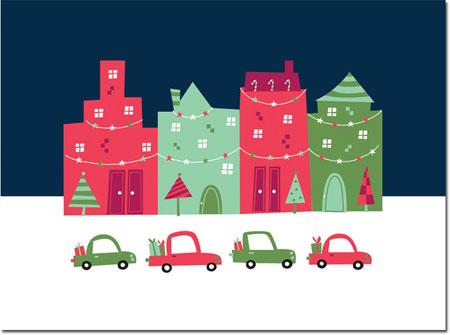 Chatsworth Holiday Greeting Cards - Block City