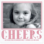 Checkerboard Holiday Photo Mount Cards - Cheers