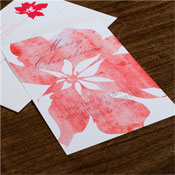 Checkerboard Holiday Greeting Cards - Poinsettia Wash
