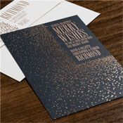 Checkerboard Holiday Greeting Cards - Rose Gold Wishes