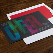Checkerboard Holiday Greeting Cards - Radiant Cheers