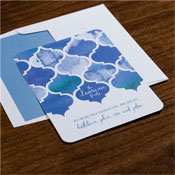 Checkerboard Holiday Greeting Cards - Watercolor Trellis