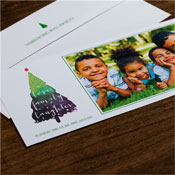Checkerboard Holiday Photo Mount Cards - Family Love