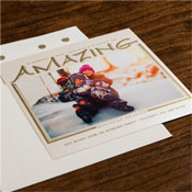 Checkerboard Holiday Photo Mount Cards - Amazing