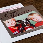 Checkerboard Holiday Photo Mount Cards - Dashing