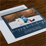 Checkerboard Holiday Photo Mount Cards - Seasonal Smiles
