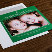 Checkerboard Holiday Photo Mount Cards - Delight