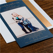 Checkerboard Holiday Photo Mount Cards - Priceless Moment