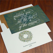 Checkerboard Holiday Greeting Cards - All The Best