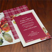 Checkerboard Holiday Greeting Cards - Bountiful Blessings