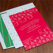 Checkerboard Holiday Greeting Cards - Oh What Fun