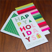 Checkerboard Holiday Greeting Cards - See Of Happy