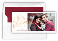 Checkerboard Holiday Photo Mount Cards - Sincerity