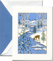 Crane Holiday Greeting Cards - Winter Forest
