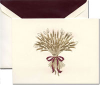 Crane Holiday Greeting Cards - Harvest Wheat