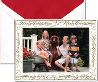 Crane Holiday Digital Photo Cards - Engraved Merry Christmas