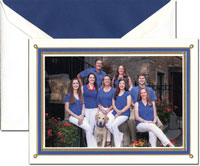 Crane Holiday Photo Mount Cards - Engraved Holiday Regatta