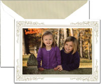 Crane Holiday Photo Mount Cards - Gold Frame