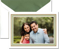 Crane Holiday Digital Photo Cards - Clover And Gold Lace