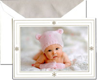 Crane Holiday Digital Photo Cards - Winter Snowflakes