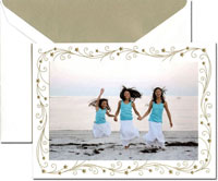 Crane Holiday Photo Mount Cards - Swirling Stars Border