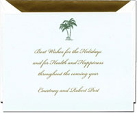 Crane Holiday Greeting Cards - Palm Trees