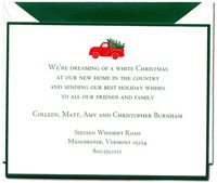 Crane Holiday Greeting Cards - Red Holiday Truck