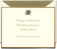 Crane Holiday Greeting Cards - Pinecones