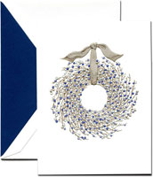 Crane Holiday Greeting Cards - Juniper Berry Wreath