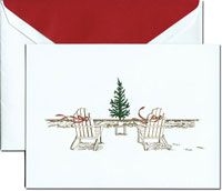 Crane Holiday Greeting Cards - Seaside Christmas