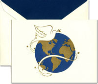 Crane Holiday Greeting Cards - Dove and Globe