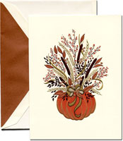 Crane Holiday Greeting Cards - Pumpkin Harvest