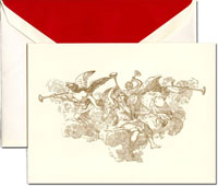 Crane Holiday Greeting Cards - Trumpeting Angels