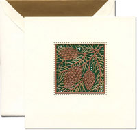 Crane Holiday Greeting Cards - Holiday Pinecones
