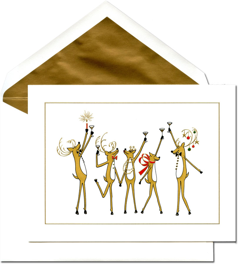Crane Holiday Greeting Cards - Toasting Reindeer: More ...