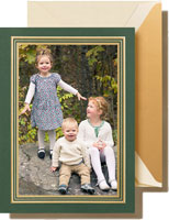 Crane Holiday Photo Mount Cards - Imperial Pine