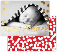 Dabney Lee Digital Holiday Photo Card - Holepunch Red with Foil (Flat)