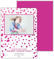 Dabney Lee Digital Holiday Photo Card - Wild Fuchsia with Foil (Flat)