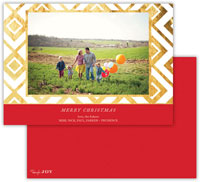Dabney Lee Digital Holiday Photo Card - Lucy Red with Foil (Flat)
